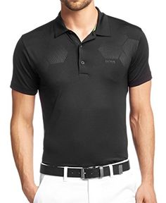 095159d5c Hugo Boss Mens Slim-fit Short Sleeve Golf Polo Shirt  Pav.
