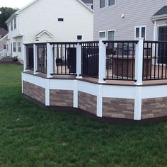 some do not care for lattice skirting how is this for a different look - Different Patio Ideas