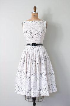 vintage 1950s dress 50s dress 1950s polka dot by SwaneeGRACE