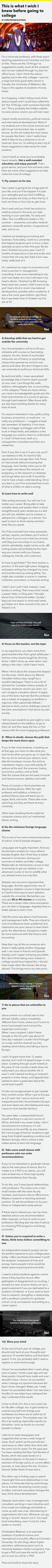 10 advices to help in college
