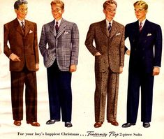 1940s Men's Fashion | Check out these great 1940s men's fashion pictures!