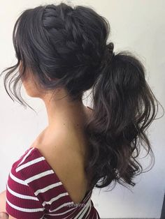 Braid to a High Curly Ponytail Prom Hair… Braid to a High Curly Ponytail Prom Hair http://www.tophaircuts.us/2017/05/10/braid-to-a-high-curly-ponytail-prom-hair/