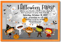 Child Friendly Costume Halloween Party Invitations - Click Image to Close