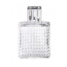 Lampe Berger Model Diamant - Clear - Glass - Home Fragrance Diffuser - 2 x 4 x 5 inches Frosted Glass, Clear Glass, Paris Perfume, Art Deco Stil, Black Lamps, Neutral, Glass Texture, Home Fragrances, Oil Lamps
