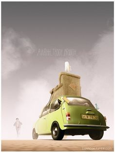 Iconic Film and TV Vehicle Art by Nicolas Bannister - Mr Bean