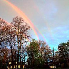 Quadruple rainbow in Glencove, NY. Photo Credit: @amanda_curtis via Twitter