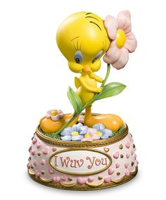 Take a look at this Tweety 'I Wuv You' Musical Figurine by Looney Tunes on #zulily today!