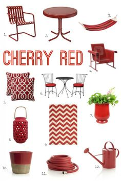 For the Love of Color: Cherry Red