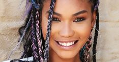 Triangle Braids Are The Protective Style Celebs Are Loving This Fall #refinery29 http://www.refinery29.com/2017/10/176590/triangle-braids-trend
