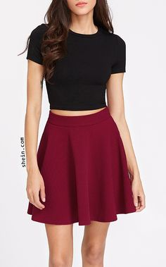 Crop Tee and Skater Skirt