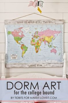 DIY Map Art for the