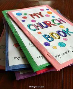 Free Printable Church Book for Kids - This Pilgrim Life