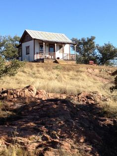 """Our """"Tiny Texas House"""" guest house at the ranch!  Best view of the Texas countryside anywhere!"""