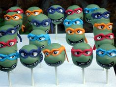 teenage mutabt ninja turtle cake pops tmnt - Perth Cake Pops