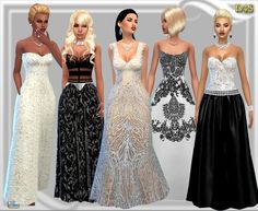 Leather & Lace gown at Dreaming 4 Sims via Sims 4 Updates