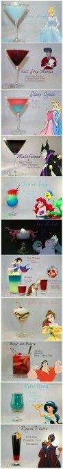 Disney-Themed mixed drinks