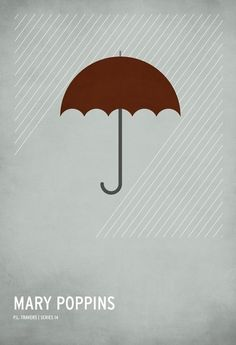 Mary Poppins ~ Minimal Movie Poster by Christian Jackson ~ Classic Children's Story Series Series Poster, Book Posters, Poster S, Minimal Movie Posters, Minimal Poster, Simple Poster, Mary Poppins, Poster Minimalista, Disney Posters
