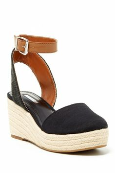 Beacon Ankle Strap Wedge Espadrille