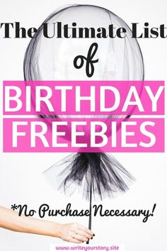 Birthday Freebies Anyone? The Ultimate List Of Bday Freebies That Require No Purchase - Write Your Story Ways To Save Money, Money Tips, Money Saving Tips, How To Make Money, 21st Birthday Checklist, Birthday Freebies, Birthday Rewards, Free Stuff By Mail, Get Free Stuff