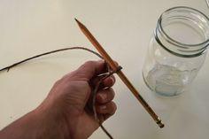tutorial to make mason jar hangers