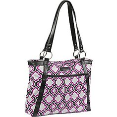 Kailo Chic Womens Pleated Laptop Tote - Purple Moroccan - via eBags.com!