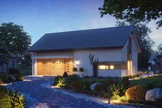 Projekt domu Z232 zawiera duże pomieszczenie gospodarcze, które w łatwy sposób można przerobić na dodatkowy pokój gościnny. Fot. Z500