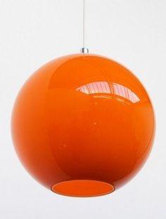 Orange Glass Lamp - Foter