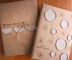 Glubers edged with twine and coated with glitter | Cosmo Cricket | Julie Cosmtock