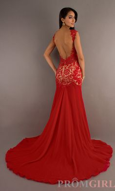 Sexy Evening Gown, Cassandra Stone Prom Red Long Dress- PromGirl