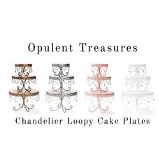 SAVE20% NOW with code PINTEREST20...Gold, Silver, White and Pink Metal Cake Stands with Chandelier Accents created & sold by the creator of the original chandelier cake stand ... Opulent Treasures™ Girl First Birthday, 16th Birthday, Chandelier Cake Stand, Glass Chandelier, Metal Cake Stand, Masquerade Party, Cake Plates, Our Wedding, Wedding Stuff