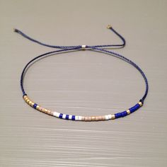 Delicate layering bracelet Friendship bead bracelet Silk String Bracelet Bracelet is made of a Miyuki Delica beads and silk thread.This handmade