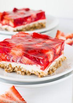 The Best Strawberry Pretzel Bars on MyRecipeMagic.com