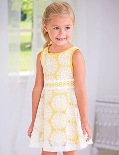 Embroidered Daisy Dress