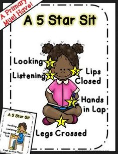 These posters make classroom management so much easier! With these 5 simple reminders, you will see consistent improvement in classroom behavior on the carpet (and at their desks).I use this ALL the time in first, and I also used it in kindergarten. Stars Classroom, Classroom Rules, Classroom Organization, Classroom Behaviour, Classroom Ideas, Classroom Procedures, Classroom Environment, Kindergarten Classroom Management, Preschool Kindergarten