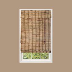 designview Natural Kiawah Bamboo Roman Shade (Price Varies by Size)-0257281 at The Home Depot
