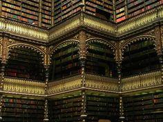 Real Gabinete Português de Leitura (known in English as the Royal Portuguese Reading Room or the Royal Cabinet), a 19th-century library in Rio de Janeiro, Brazil.