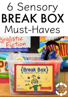 A sensory break helps us orient, process, and refocus. But we don& always have access to a sensory room or a cool breezy day on a hammock. That's when a sensory box comes in handy. Sensory Tubs, Sensory Rooms, Autism Sensory, Sensory Boards, Sensory Activities, Sensory Play, Calming Activities, Sensory Bottles, Motor Activities