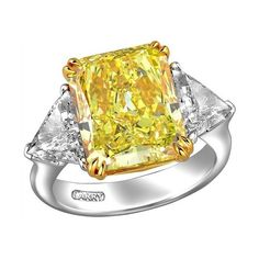 b983c6c1bd21 Beauty of a thousand daffodils  Larry Jewelry Yellow Diamond Collection  found on Polyvore