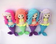 PDF Mermaid Kaelyn Crochet mermaid Crochet by DuduToyFactory