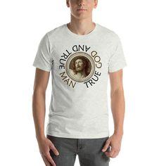Catholic Quotes, Catholic Art, Jesus Shirts, Online Shopping Websites, Christian Clothing, Religious Gifts, Fabric Weights, Shoulder Taping, Spun Cotton