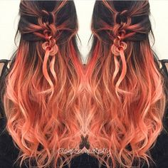 Do you love braid? The braid in different colors looks very nice. The colors used are pink, peach, blue, purple, yellow, green and red.  Related Posts:Which hair color?2015 Ombre HairPink and Peach Ombre...