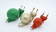 USB cords shaped like snails