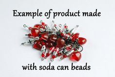 Upcycled soda can bead.