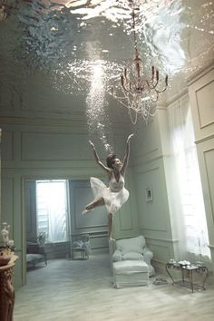 I used to daydream that my room was filled with water and I'd be able to swim around in it.  Sooo neat to have a visual.