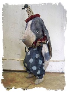 """""""HOUND DAWG""""    12"""" size - Vintage Whimsical Style ToY Circus Hound Dog"""