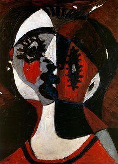 1926  Picasso portrait de femme, portrait of woman  huile sur toile 22x 26 cm. #Cubismo #Art @deFharo