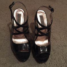 Steve Madden heels Black Steve Madden heels. Worn to one dance. Never worn again. Great condition. Same/next day shipping Steve Madden Shoes Heels