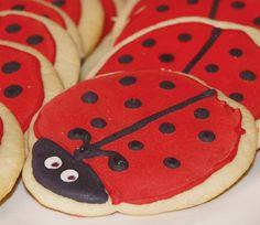 Ladybug Birthday Party - Craft & Creative // Hostess with the Mostess® Birthday Party Venues, First Birthday Party Themes, Birthday Bash, Birthday Ideas, Ladybug Cookies, Cute Cookies, Sugar Cookies, Bday Girl, 1st Birthday Girls