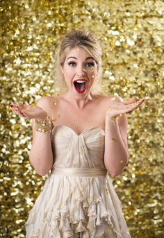 Happy New Year!   Gold glitter  Styling- Beth Chapman | The White Dress by the shore  Photo- Justin & Mary  Dress- Ivy & Aster