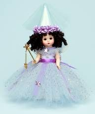 Fairy of Virtue (blue) $71.96. Once upon a time a beautiful fairy made a wish over a sleeping baby. A gold star wand and white with gold trim wings complete this fairy's ensemble.